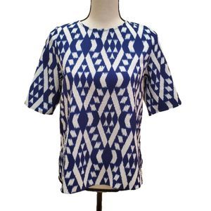 NWOT! Everly Ikat Short Sleeved Top, Size Small